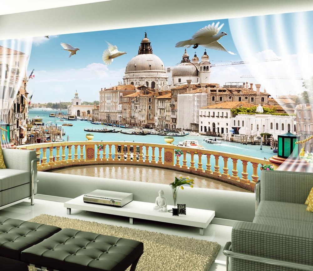 custom 3d mural wallpaper european style beautiful scenery outside