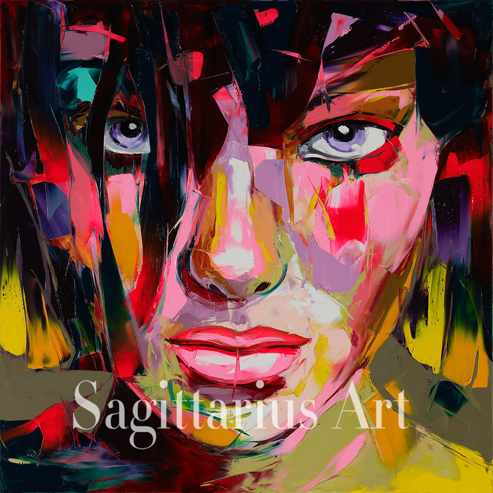 Hand Painted Abstract Untitled 620 from the Francoise Nielly font b Knife b font Palette oil
