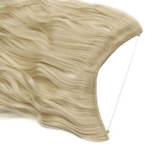 Женские накладные волосы без клипов, 24 дюйма, невидимые волосы из натурального синтетического материала