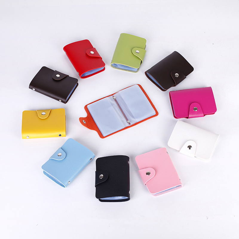 1pc Random Color Credit Card Holder 24 Bits Card Case Kawaii Stationary Business Id Card Organizer Portable Men Women Wallets Structural Disabilities