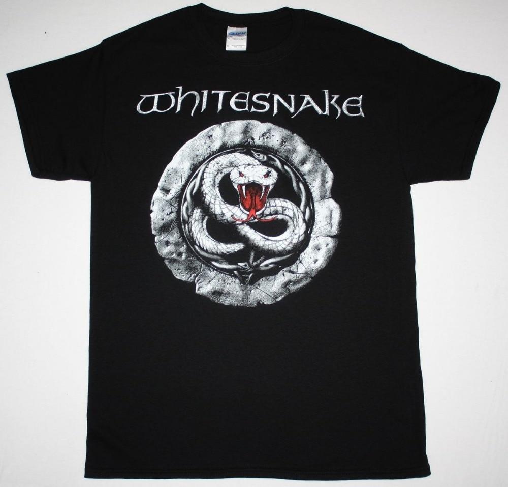 T shirt whitesnake - High Quality Casual Printing Tee Whitesnake Sign Hard Rock Band David Coverdale Deep Purple Dio Crew Neck Short Sleeve Tee Shirt