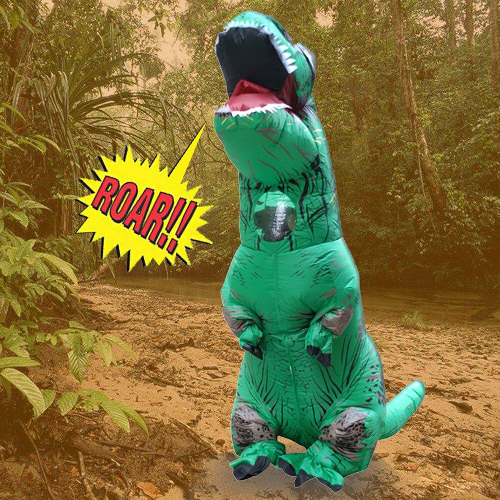 Inflable T-Rex dinosaurio  traje de fiesta juguetes al aire libre juego educativos niños 12