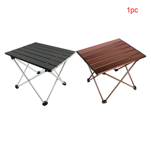 Image 5 - Outdoor Portable Lightweight Aluminium Alloy Desk Mini Easy Clean Waterproof Multiuse Camping Folding Table Hard Topped Durable
