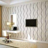 Modern Simple Striped Nonwovens Water Ripple Curve Wave Wallpaper TV Sofa Bedroom Background Wallpaper Papel De