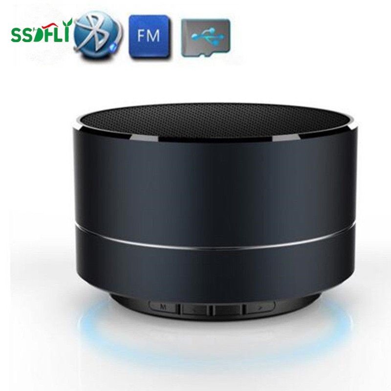 A10 Metal Mini Wireless Bluetooth Speaker Subwoofer Microphone TF Card MP3 Music Player Speaker Compatible Smartphone Pc