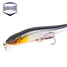 Купить с кэшбэком 1PCS/lot Minnow Fishing Lures 8cm 5.2g with 2 Fishing Hooks Floating Wobblers Hard Bait Swimbait Pesca Crankbait Fishing Tackle