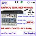 4 8 16 Canais NVR P2P 1080 P AHDVR 4 canais Rede 8CH DVR ONVIF 2.4 CANAIS NVR recorder para AHD-H AHD-M 960 H D1 Câmera IP 3MP