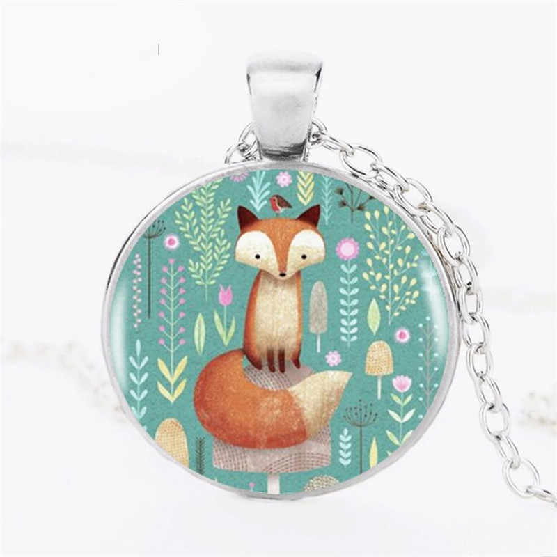 VERDVE wholesale cheap 3 color optional fox crystal glass pendant necklace jewelry gift