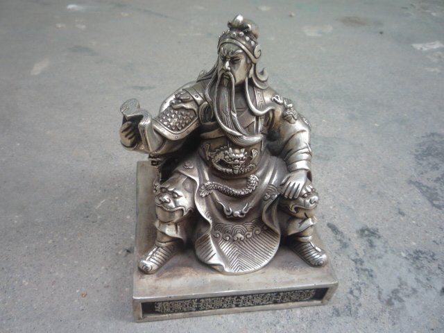 Rare Old 18C silver duke guan  Statue/ Sculpture,Fine workmanship,best collection&adornment,free shippingRare Old 18C silver duke guan  Statue/ Sculpture,Fine workmanship,best collection&adornment,free shipping