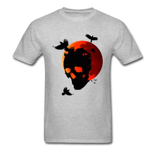 3D Digital Printed Leisure T Shirt Prevalent Halloween Skull Crows On Blood Moon Tshirts 2018 Cheap Funny Tee Shirt Homme Great! цена