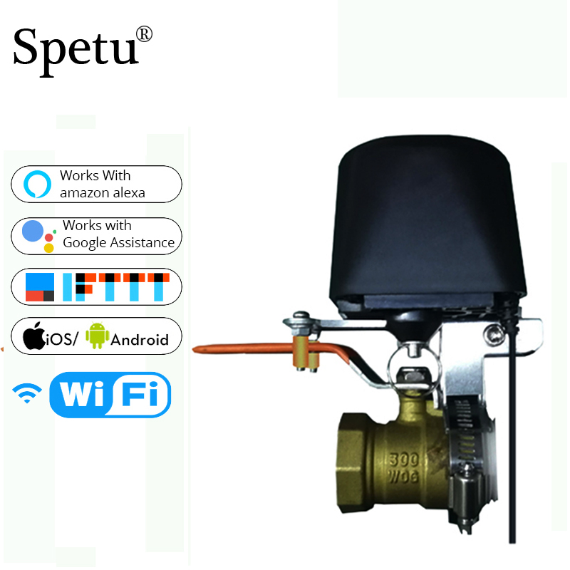Smart Wifi Water Valve Smart Home Automation System Valve For Gas Water Control Work Amazon Alexa,Goole Assistant,IFTTT