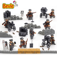 Bevle Doll 71002 4Pcs/lot SWAT Military Assault Army The Second World War Building Blocks Toys Compatible with Lepin Swat Team