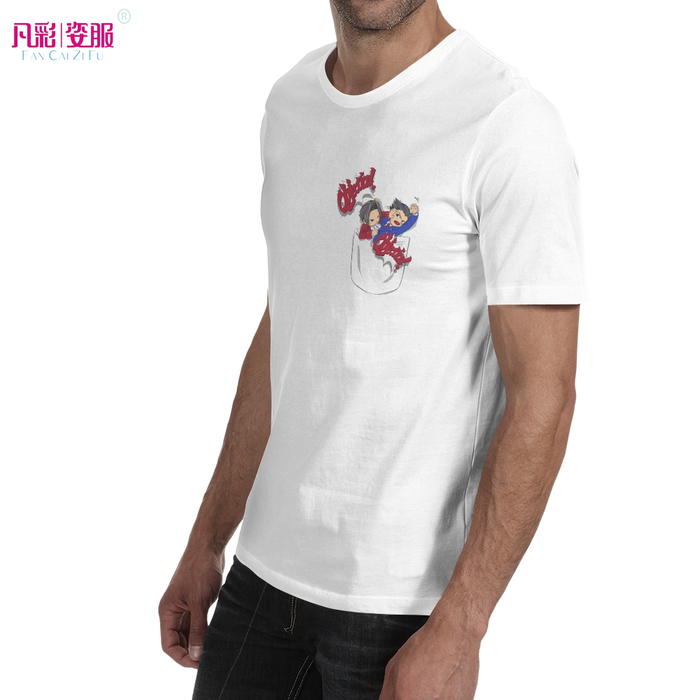 e85c640521b8 Phoenix Wright Ace Attorney In Your Pocket T Shirt Gyakuten Saiban Anime Design  Creative T shirt Fashion Style Cool Top Tshirt-in T-Shirts from Men's ...
