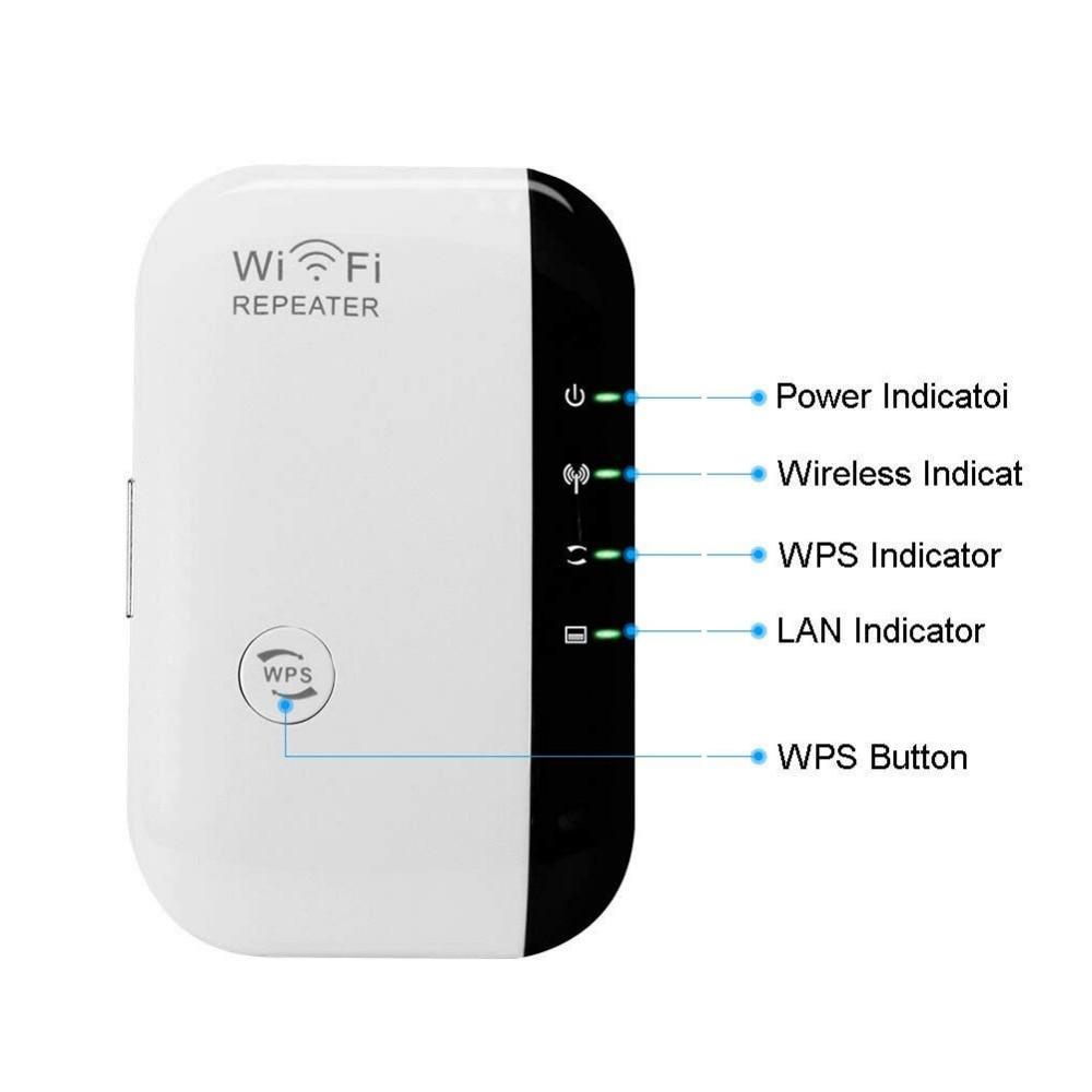 უსადენო N 802.11N / B / G WPS 300Mbps WiFi - ქსელის აპარატურა - ფოტო 4