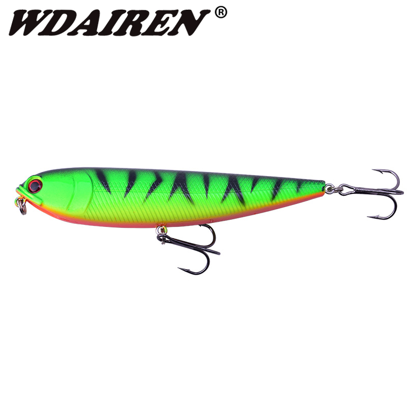 1Pcs Pencil Lure Fishing Bait 110mm 20g Artificial Minnow Hard Lures Baits Floating Top water Surface Fishing Tackle WD-216 hard pedal small mini water fishing