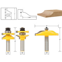3pcs 1 2 Shank Raised Panel Router Bit Cabinet Door Woodworking Cutter Set Mayitr For Power
