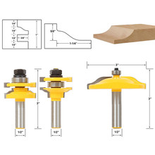3pcs 1/2″ Shank Raised Panel Router Bit Cabinet Door Woodworking Cutter Set For Power Tools