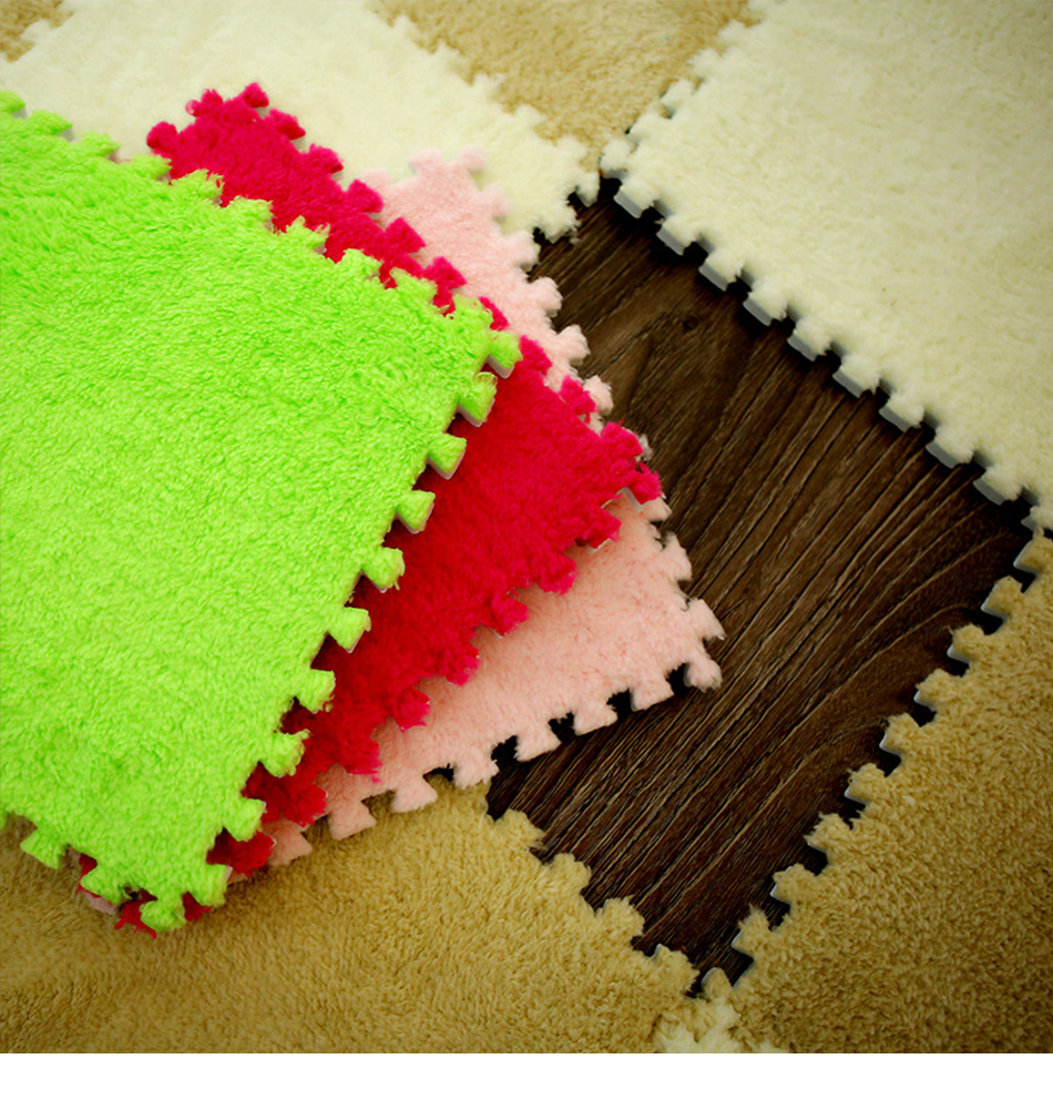 10Pcs/Lot Kids Carpet Plush Baby Play Mat For Children EVA Foam Developing Mat Puzzle Kids Soft Floor Rug Game Crawling Playmat