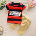 Toddler Boys Clothing 2017 Boys Summer Clothes Stripe T-shirt+Pants Kids Tracksuit Baby Boys Clothes Set Children Clothing