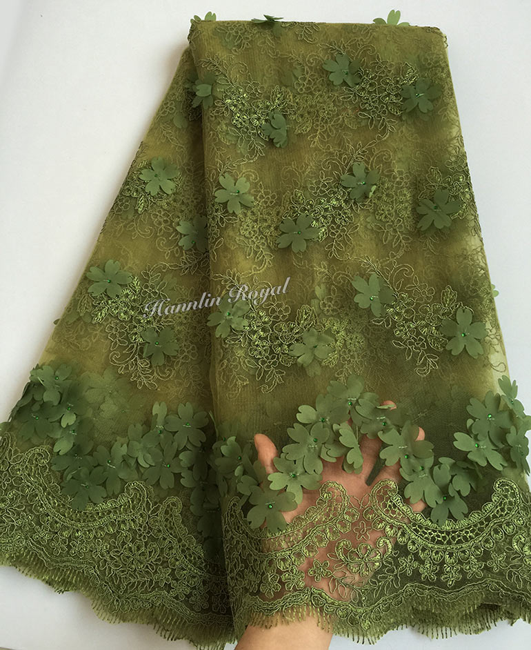 very soft 5 yards cord embroidery African french lace sewing tulle fabric sheer mesh lace for