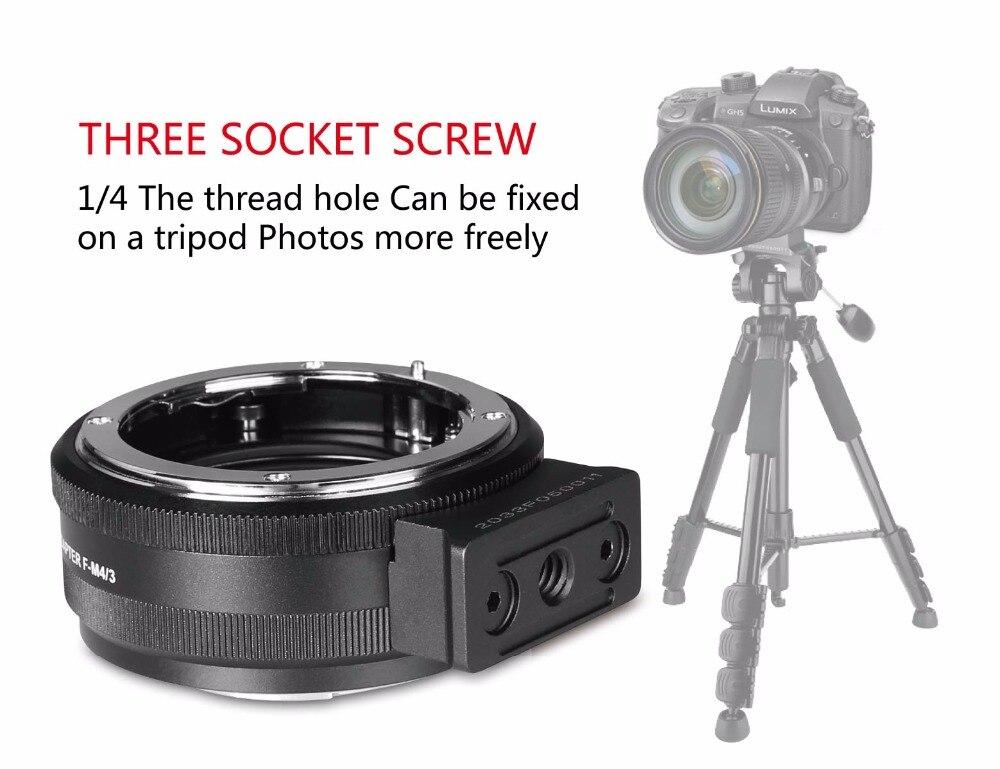 MEIKE MK-NF-P Adapter for Nikon F-mount Lens to M43-Mount Mirroless Camera Panasonic Olympus E-PL5 E-PL6 E-PL7  GM5 GX1 GX7 G3 e