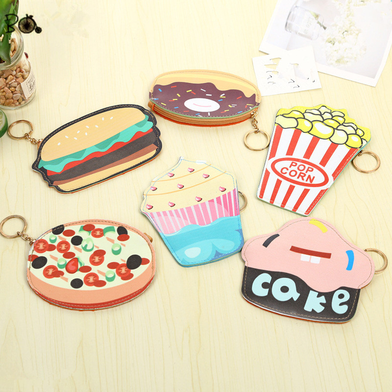 Children Cute Coin Purses Girls Mini Leather Wallet Kids Key Bag Funny Students Card Holder Portable Food Shape Money Pocket