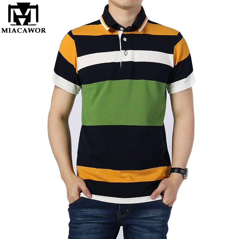 Mutter & Kinder Neue Mode Gestreiften Polo-shirts Hohe Qualität Baumwolle Männer Marke Kleidung Camisa Kurzhülse Homme 4xl Mt545
