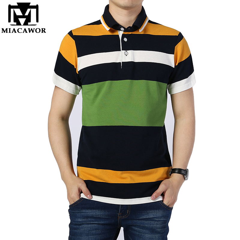 New Fashion Striped   Polo   shirts High Quality Cotton Men Brand Clothing Camisa Short-sleeve Homme 4XL MT545