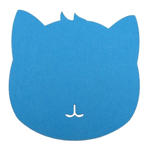 Felt Cat Shaped Mouse Pad
