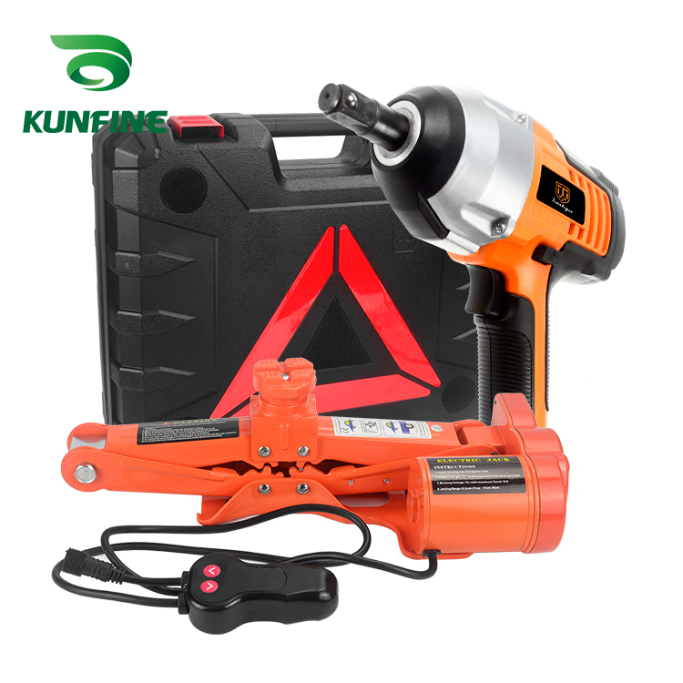 KUNFINE Portable 12V 80W Car Jack 2Ton Electric Jack Auto ...