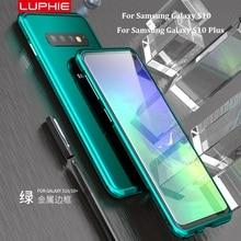 Роскошный Металлический Алюминий футляр для бампера для samsung Galaxy S10 плюс S10 чехол для samsung S10 плюс противоударные Чехлы Coque