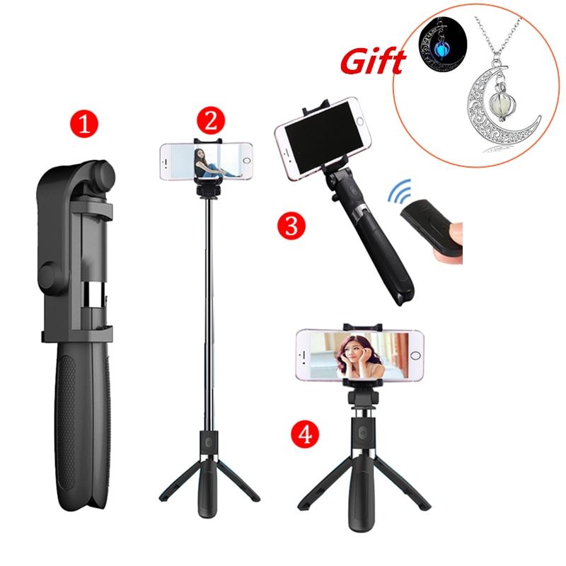 Palo de Selfie trípode con mando a distancia Bluetooth para el iPhone trípode para teléfono Gopro Cámara del deporte cámara de luz Monopod con Clip