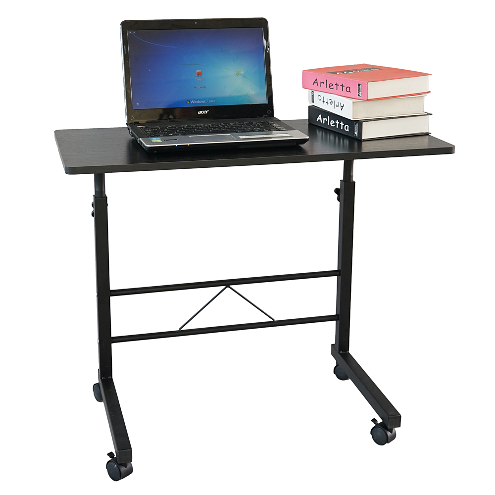 Removable E1 15MM Chipboard & Steel Side Table Wood Black Color Home Office Only Ship to US(China)