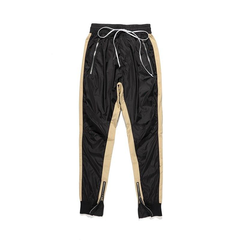 Qoolxcwear Pantalons Avec Bande Survêtement Hommes Côté Hip Harem Hop Streetwear De Pantalon Joggers EIWH2YeD9