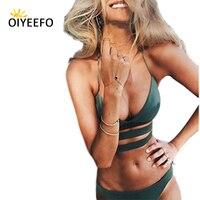 Oiyeefo 2 أنماط تويست التفاف بيكيني البرازيلي القاع المحاصيل الأعلى النساء مثير المايوه ملابس الشاطئ الإناث قد plavky