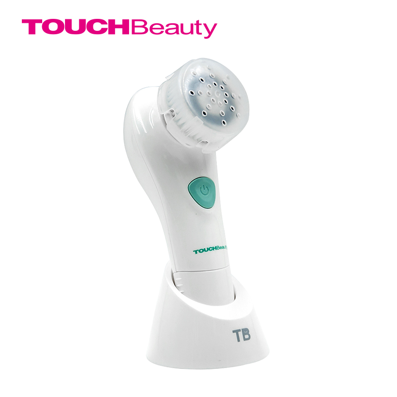 TOUCHBeauty Face Cleansing Brush Oscillating with PBT Brush Head, 2 optional working speeds battery facial brush TB-1487 touchbeauty 2 in 1 electric sonic facial cleanser two optional working speeds face cleansing brush and powder puff tb 1289