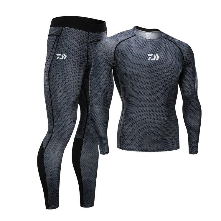 Daiwa Men Outdoor Sports Fishing Clothes Sets Breathable Quick Dry Anti UV 40+ Anti Mosquito Fishing Shirts Fishing Pants