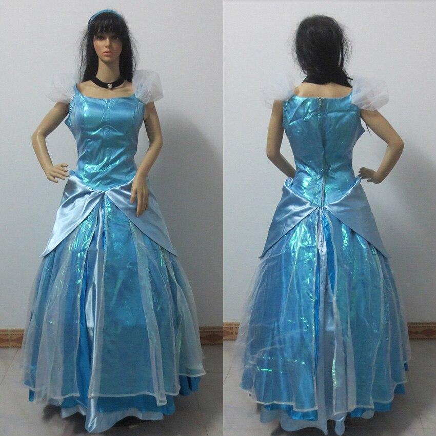 Newest Cinderella Dress New Cinderella Movie Cosplay Costume Cinderella Movie Dress Custom Made Any Size