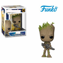 FUNKO POP Marvel Guardians of the Galaxy # 293 Groot Kids Favor Cute Vinyl Dolls Model Action & Figure Toys Birthday Funny Gift rmdmyc toy guardians of the galaxy rocket racoon groot action figure 16cm groot 1 10 scale painted anime figure pvc model gifts