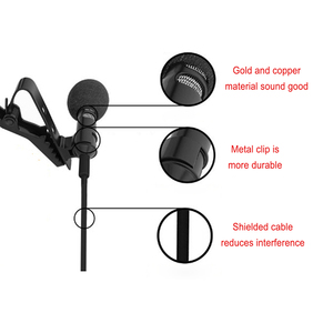 Image 4 - OLLIVAN Pro Audio Microphones 3.5mm Jack Plug Clip on Lavalier Mic Stereo Record Mini Wired External Microphone for Phone 1.5M