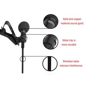 Image 4 - Ollivan Pro Audio Microfoons 3.5 Mm Jack Plug Clip On Lavalier Mic Stereo Record Mini Bedrade Externe Microfoon Voor telefoon 1.5M