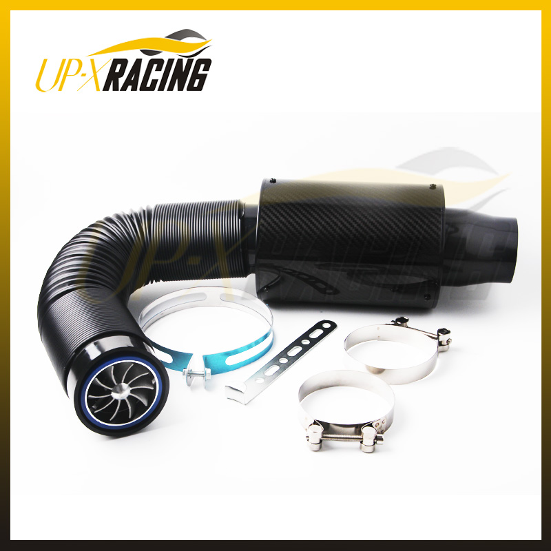 Fan Spacer Cold Air Intake : Air intake wit fan universal racing carbon fiber cold feed