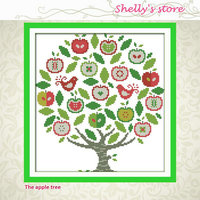 The Apple Tree Painting Peony Paintings Counted Or Stamped 11CT 14CT Kits Cross Stitch Embroidery Needlework