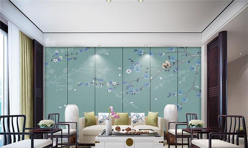 Color Prugna Per Pareti : Personalizzato sfondi per pareti d dipinti a mano cinese uccello