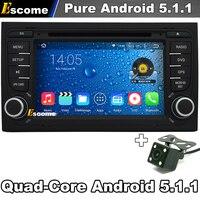 7' 2 din Pure Android 5.1 Auto Dvd-speler Voor SEAT EXEO 2009-2012 AUDI A4 2002-2007 S4 met GPS Auto Autoradio Achteruitrijcamera