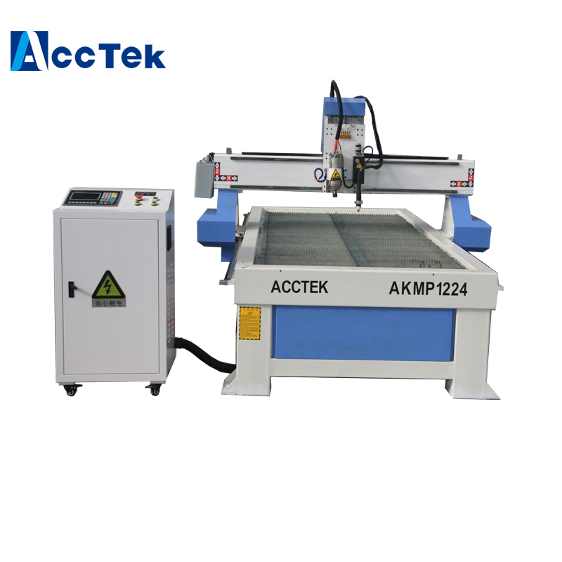 ACCTEK 1200*2400mm Metal Cnc Plasma Cutting Engraving Machine Mach3 Control System Cnc Machine