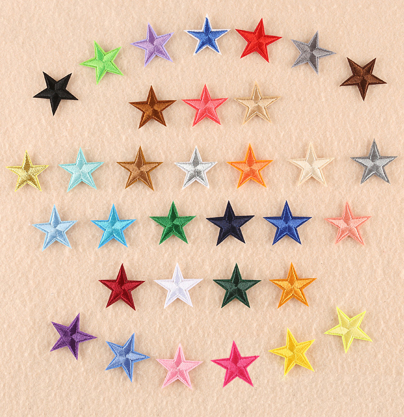 1 шт. смешанные нашивки со звездами для одежды, железная вышитая аппликация, милая нашивка эмблема на ткани, одежда, аксессуары для одежды DIY 61