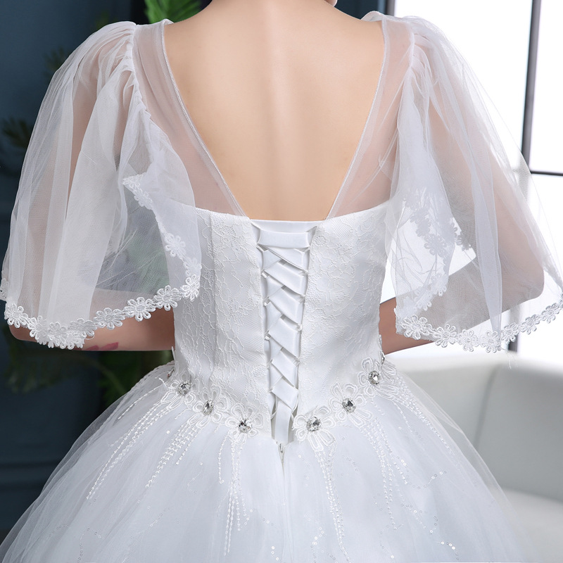 Wedding Dress 2019 New Hot drilling Gown Princess lace applique Wedding Dresses Large size Vestido De Noiva in Wedding Dresses from Weddings Events