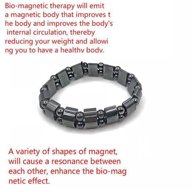 Adjustable Weight Loss Round Black Stone Magnetic Therapy Bracelet Health Care Luxury Slimming Product 2