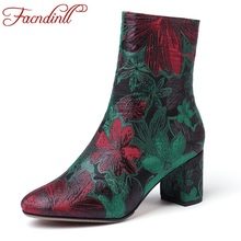 FACNDINLL new brand autumn winter warm women ankle boots shoes sexy high heels zipper shoes woman dress party short boots 34-43 facndinll women boots new fashion autumn winter square high heels pointed toe zipper shoes woman dress party riding ankle boots